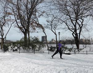 Skier in Central Park.