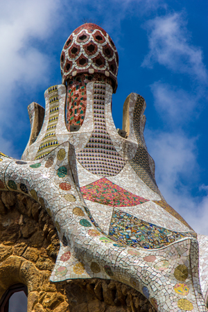 Gaudi's Park Guell Entrance Confection. Photo by Andrew Moore