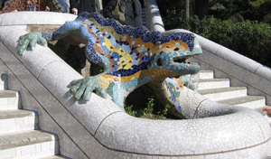 Parc Guell, Dragon. Photo: William Avery